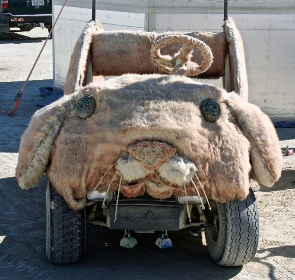 Rabbit mutant vehicle at Burning Man.