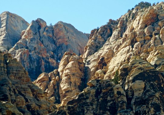 Red Rock Canyon National Conservation Area from Ice Box Canyon pull off.