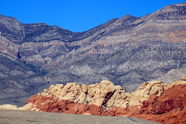 Rock formation in Red Rock Canyon near Las Vegas.
