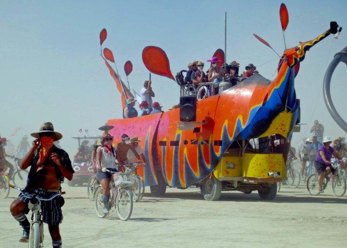 Sea creature mutant vehicle at Burning Man.
