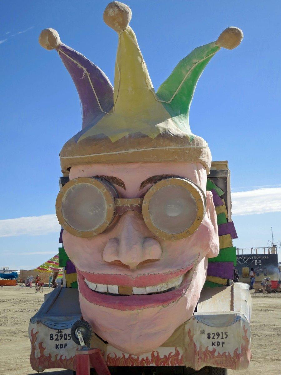 Joker mutant vehicle at Burning Man.