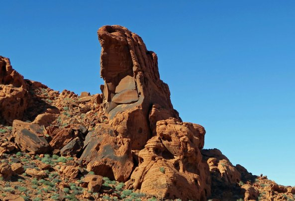 Rock sculpture at Valley of Fire State Park.
