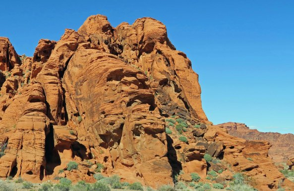 Faces in rocks at Valley of Fire State Park.