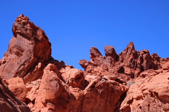 Rocks near Visitor's Center at Valley of Fire State Park near Las Vegas.