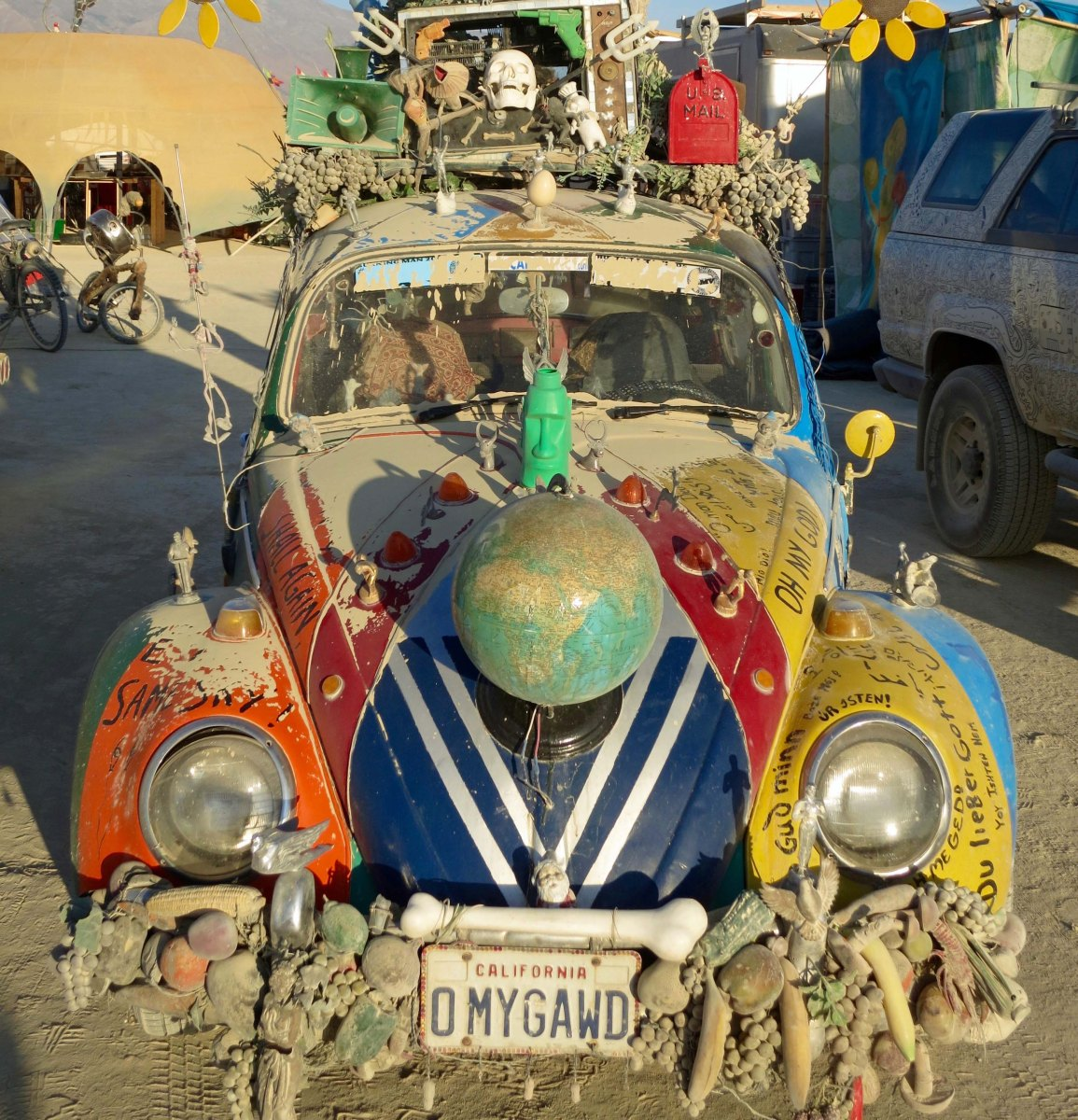 VW Bug art car/mutant vehicle at Burning Man.