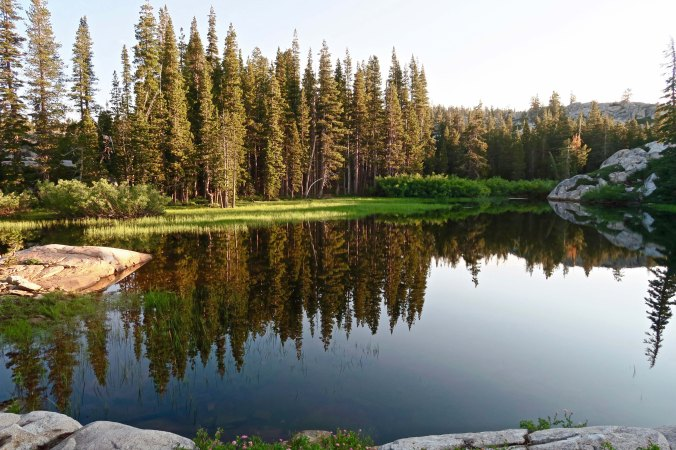 Peggy's Lake in the Grouse Ridge area of the Northern Sierras.