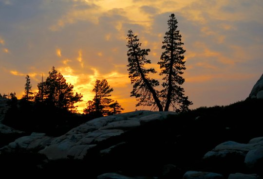 Sunset in the Five Lakes Basin of the Grouse Ridge Non-Motorized Area.