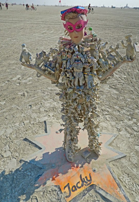 Action Figure Family member Jacky at Burning Man 2017