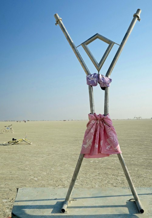Burning Girl at Burning Man 2017