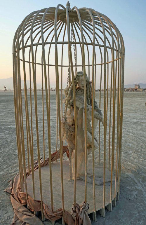 Cage from Bridge and Cage Sculpture, Burning Man 2017