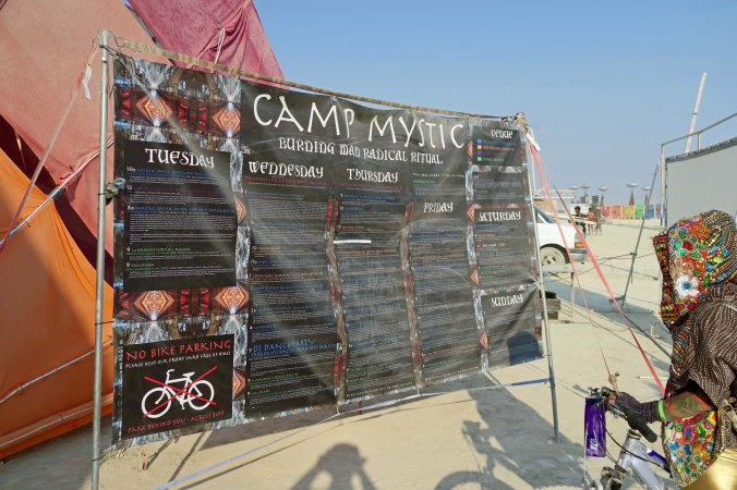 Camp Mystic program directory, Burning Man 2017
