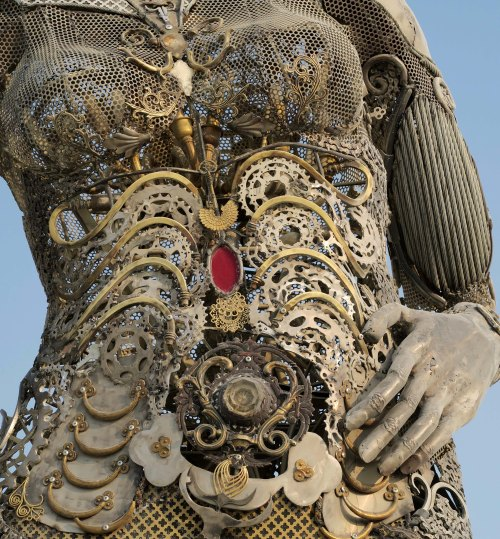 Close up of Tara mechani at Burning Man 2017