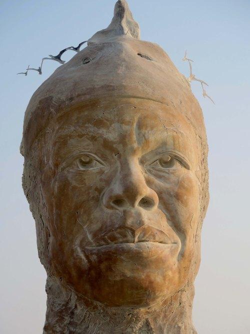Closeup of Maya's Mind sculpture at Burning Man 2017
