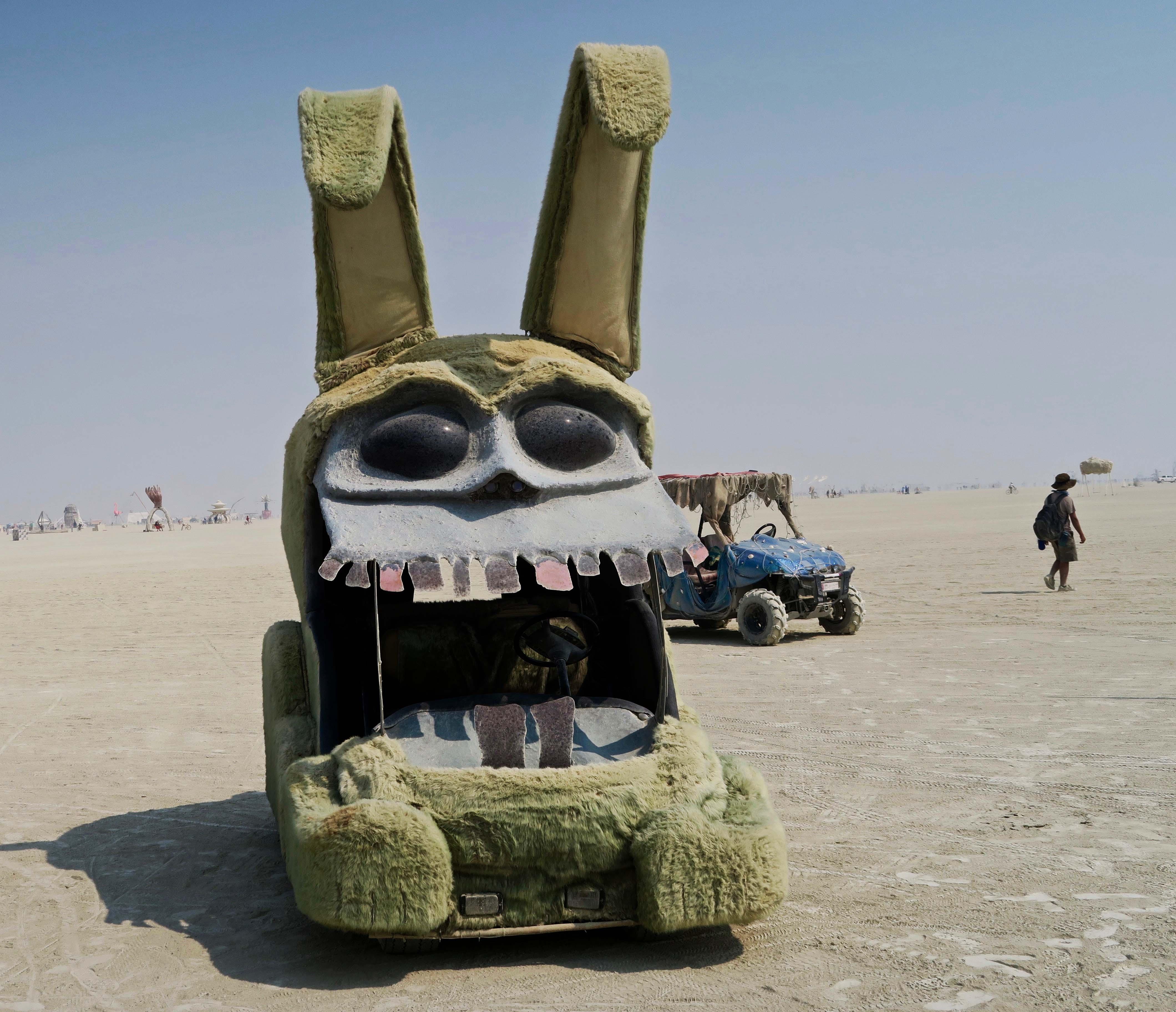 Mad rabbit mutant vehicle at Burning Man 2017