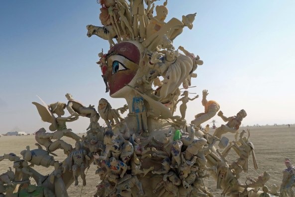 Member of Action Figure Family at Burning Man 2017
