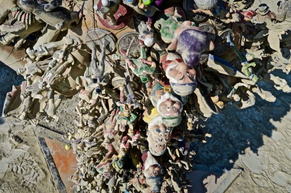 Seven dwarves on Action Figure Family, Burning Man 2017