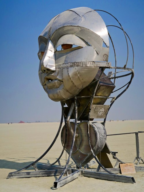 Side view of Tonglen Sculpture at Burning Man 2017