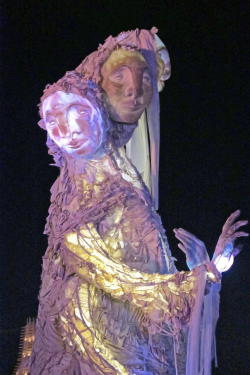 Solacii at night, Burning Man 2017