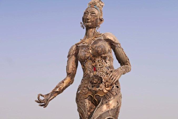 Tara mechani at Burning Man 2017