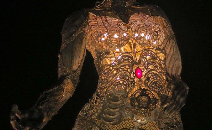 Tara mechani at night, Burning Man 2017