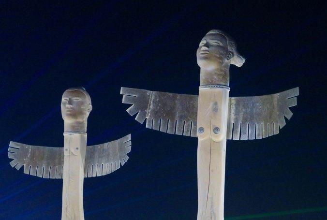 Thunderbirds at night, Burning Man 2017