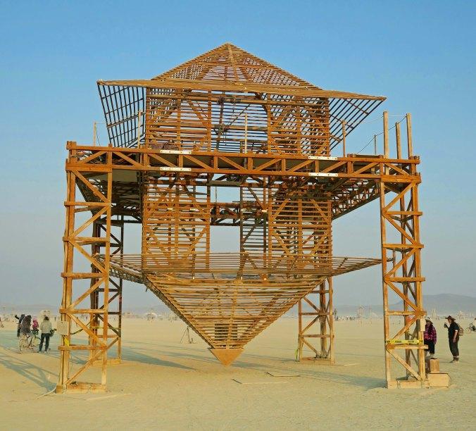 Aluna sculpture, Burning Man 2017