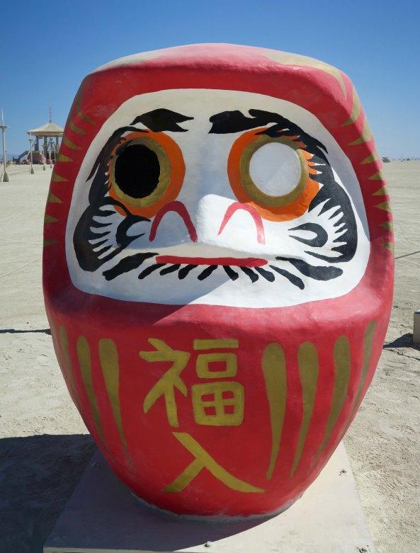 Daruma by Angela Chang Burning Man 2017