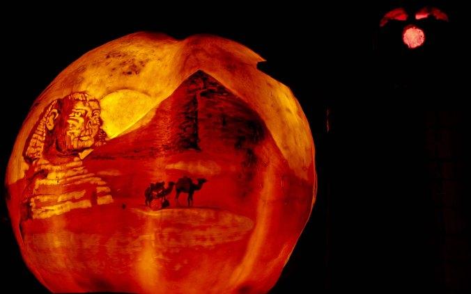 Egyptian scene at Jack-o-Lantern Spectacular in Rhode Island