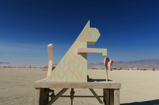 Fish catching cat at Burning Man 2017