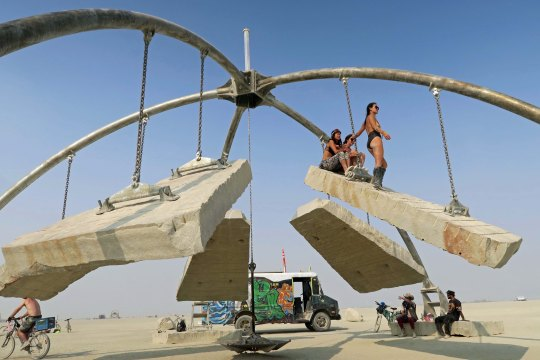 Gravity sculpture at Burning Man 2017
