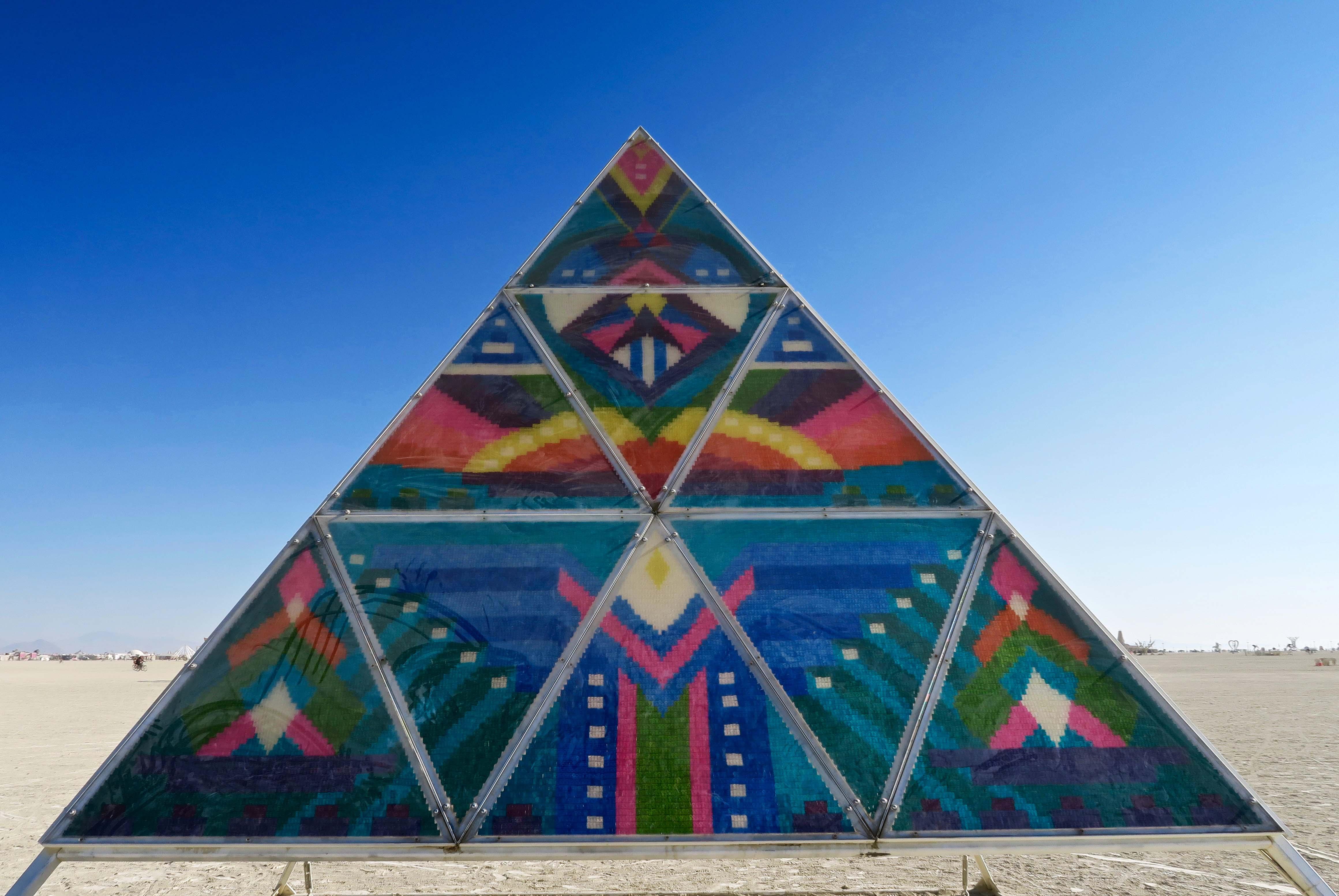 Gummy Bear pyramid at Burning Man 2017