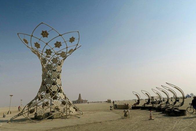 ILUMINA with chairs at Burning Man 2017