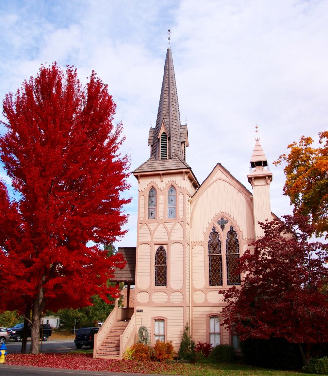 Jacksonville Oregon Church in fall