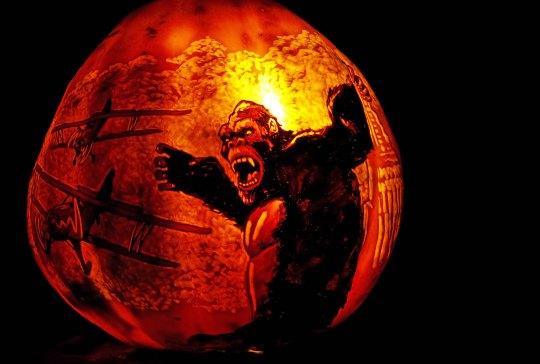 King Kong pumpkin at Jack-o-Lantern Spectacular, Providence, RI