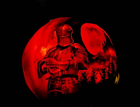 Knight in Lord of the Rings at Jack-o-Lantern Spectacular in Rhode Island