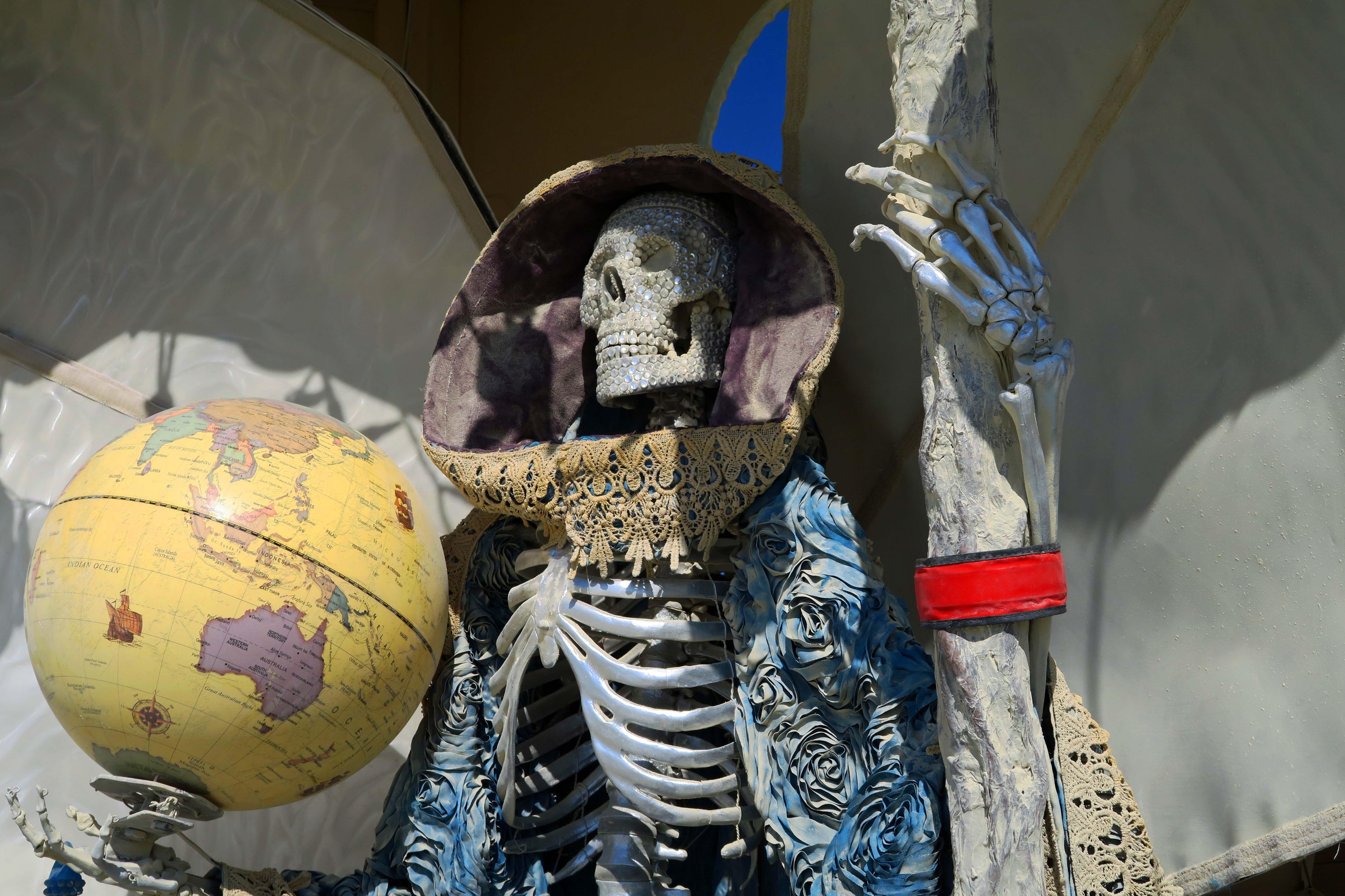 La Santisima Muerte close up at Burning Man 2017