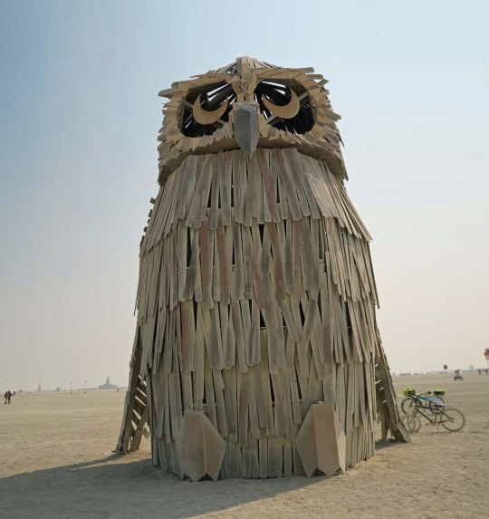 Múcaro sculpture at Burning Man 2017
