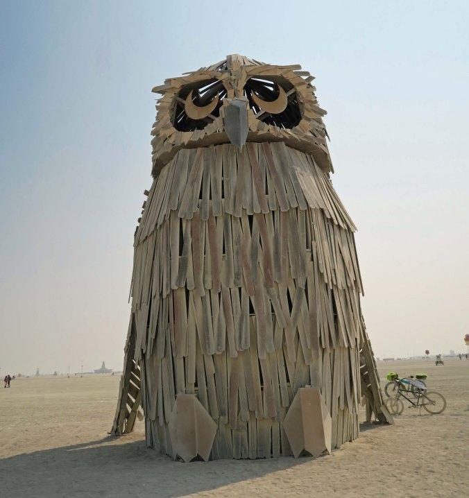 Múcaro sculpture at Burning Man 2017