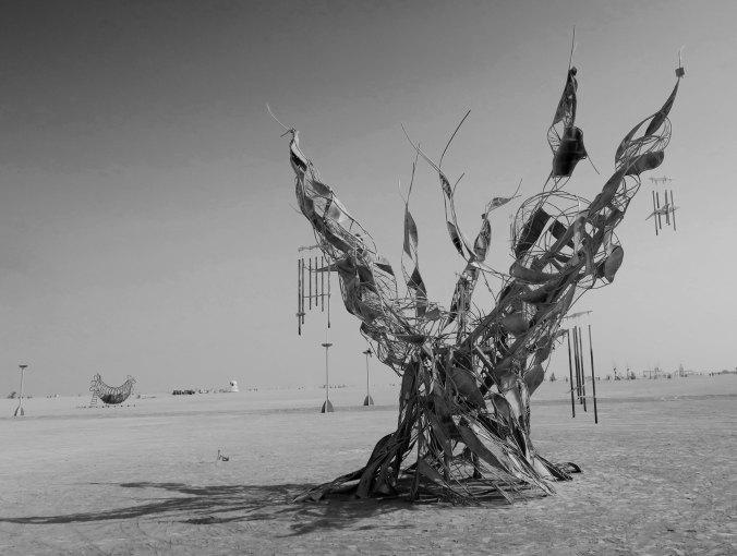Methuselah in balack and white, Burning Man 2017