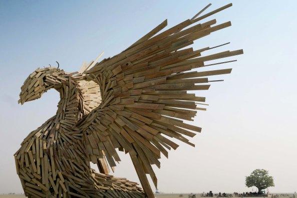 Phoenix Rising sculpture at Burning Man 2017