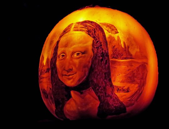 Pumpkin Mona Lisa at Jack-o-Lantern Spectacular in Providence, RI