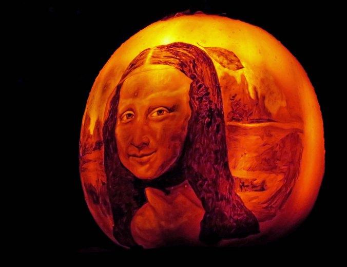 Pumpkin Mona Lisa at Jack-o-Lantern Spectacular in Providence, RI