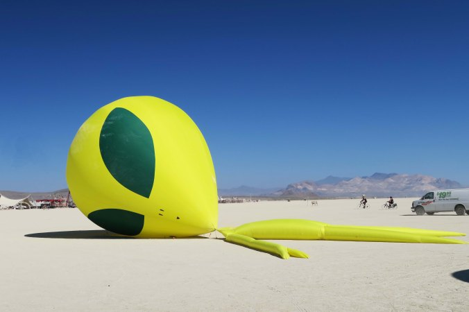 Roswell alien at Burning Man 2017