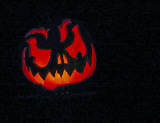 Sharp toothed pumpkin at Jack-o-Lantern Spectacular in Rhode Island