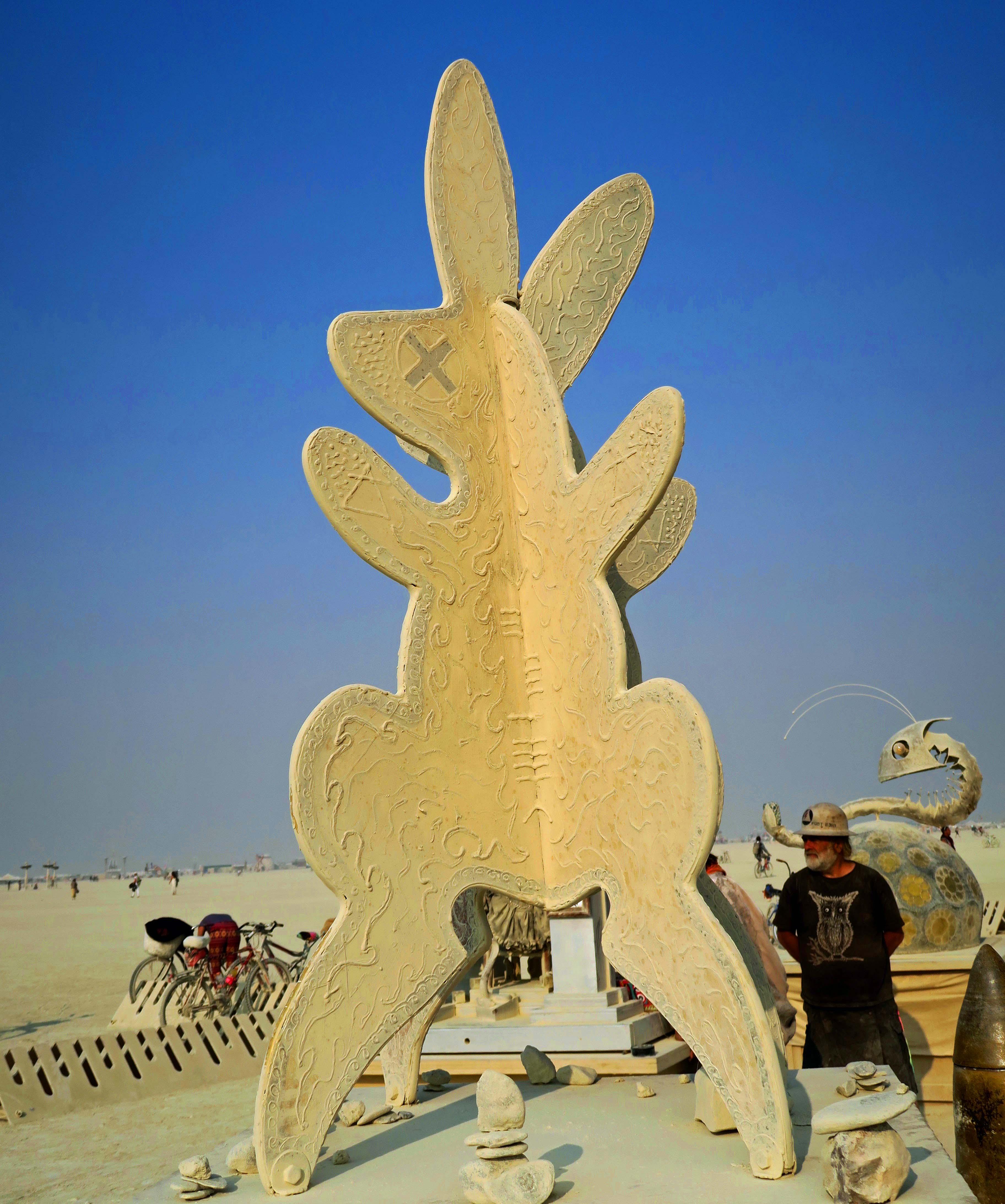 Shrine of the Golden Bunny at Burning Man 2017