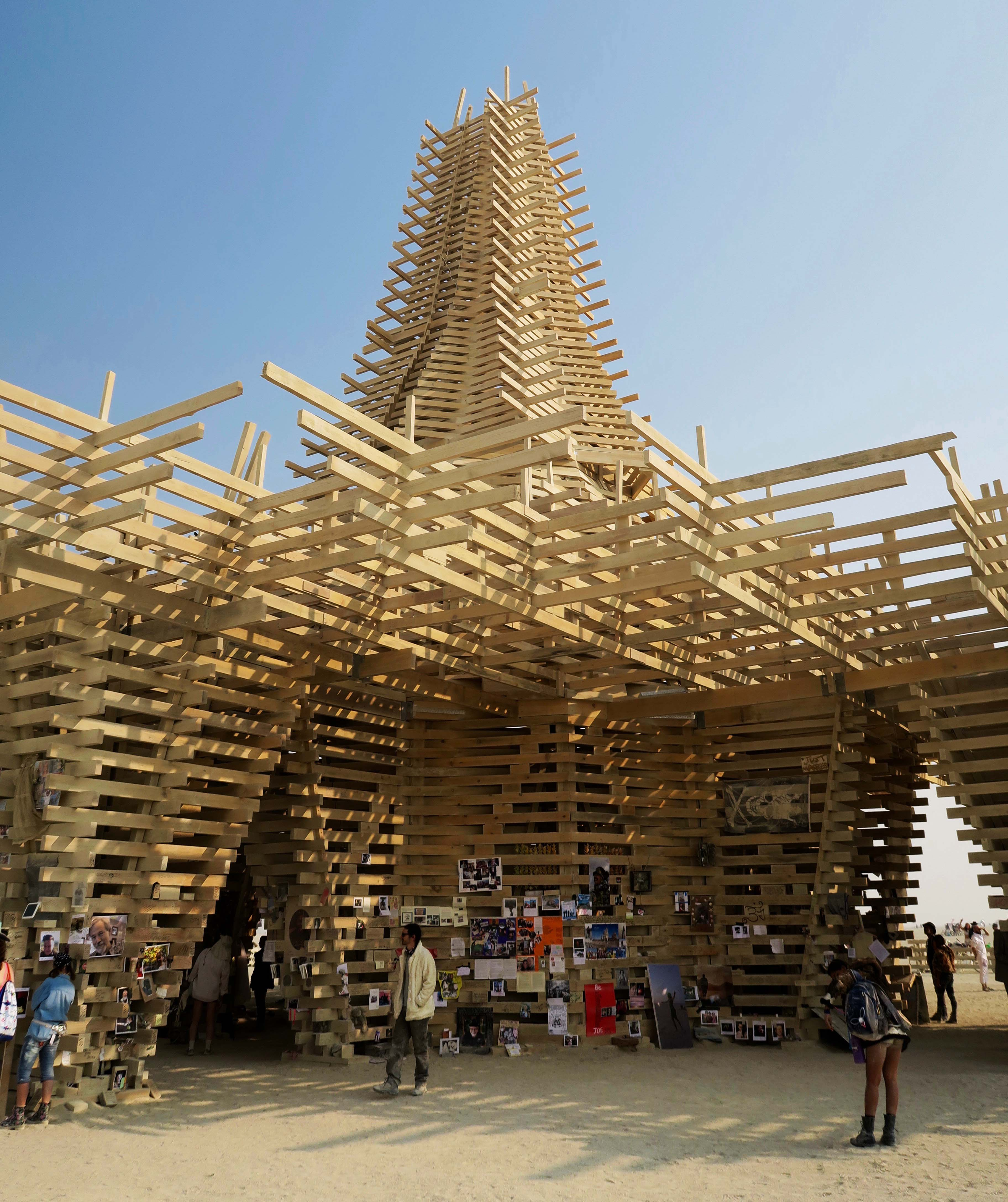 Side view of Temple at Burning Man 2017