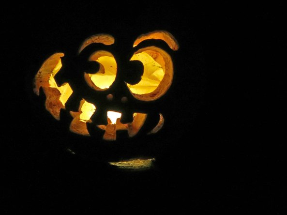 Smiling pumpkin at Jack-o-Lantern Spectacular in Providence, RI