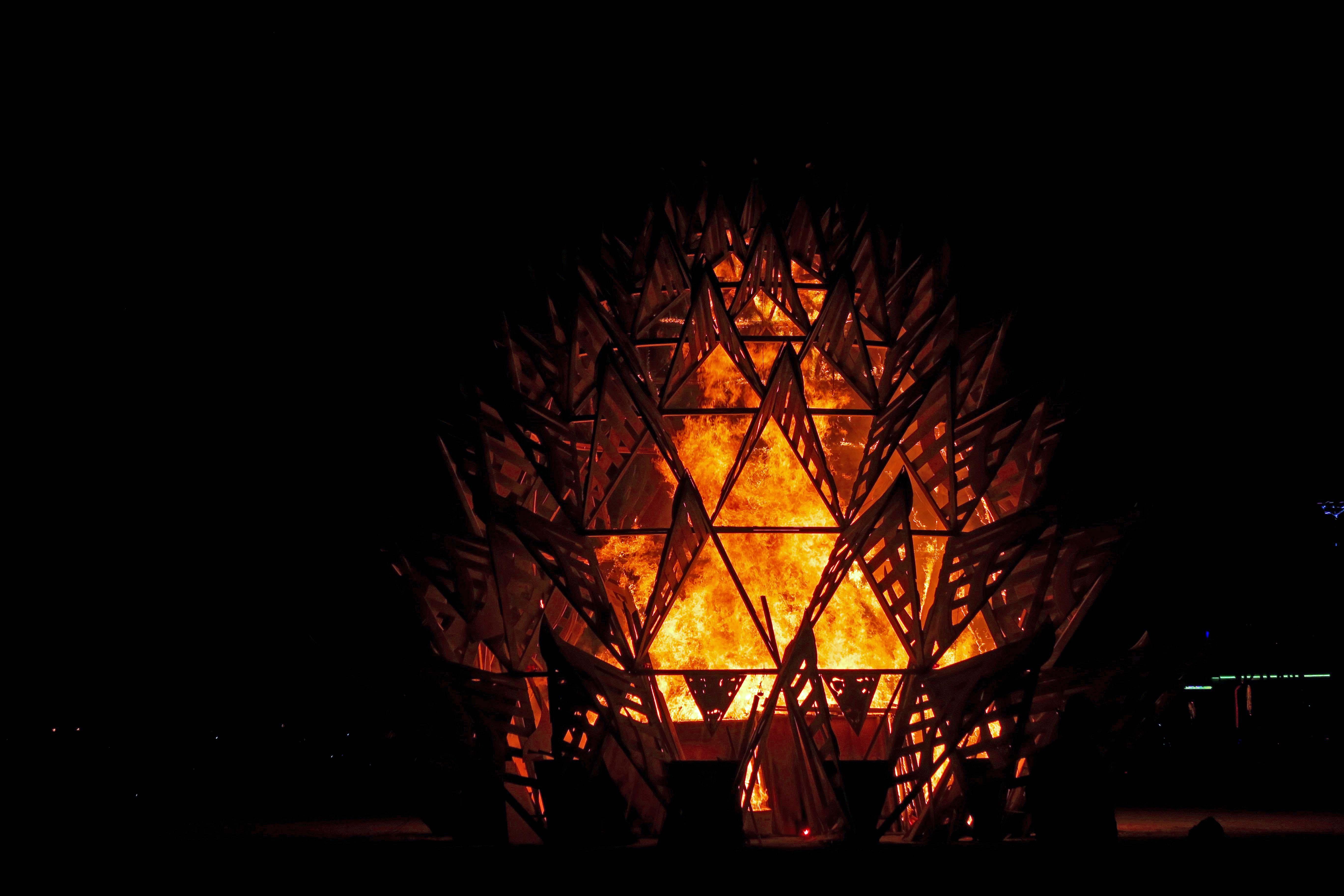 Temple of Awareness Burns at Burning Man 2017 5