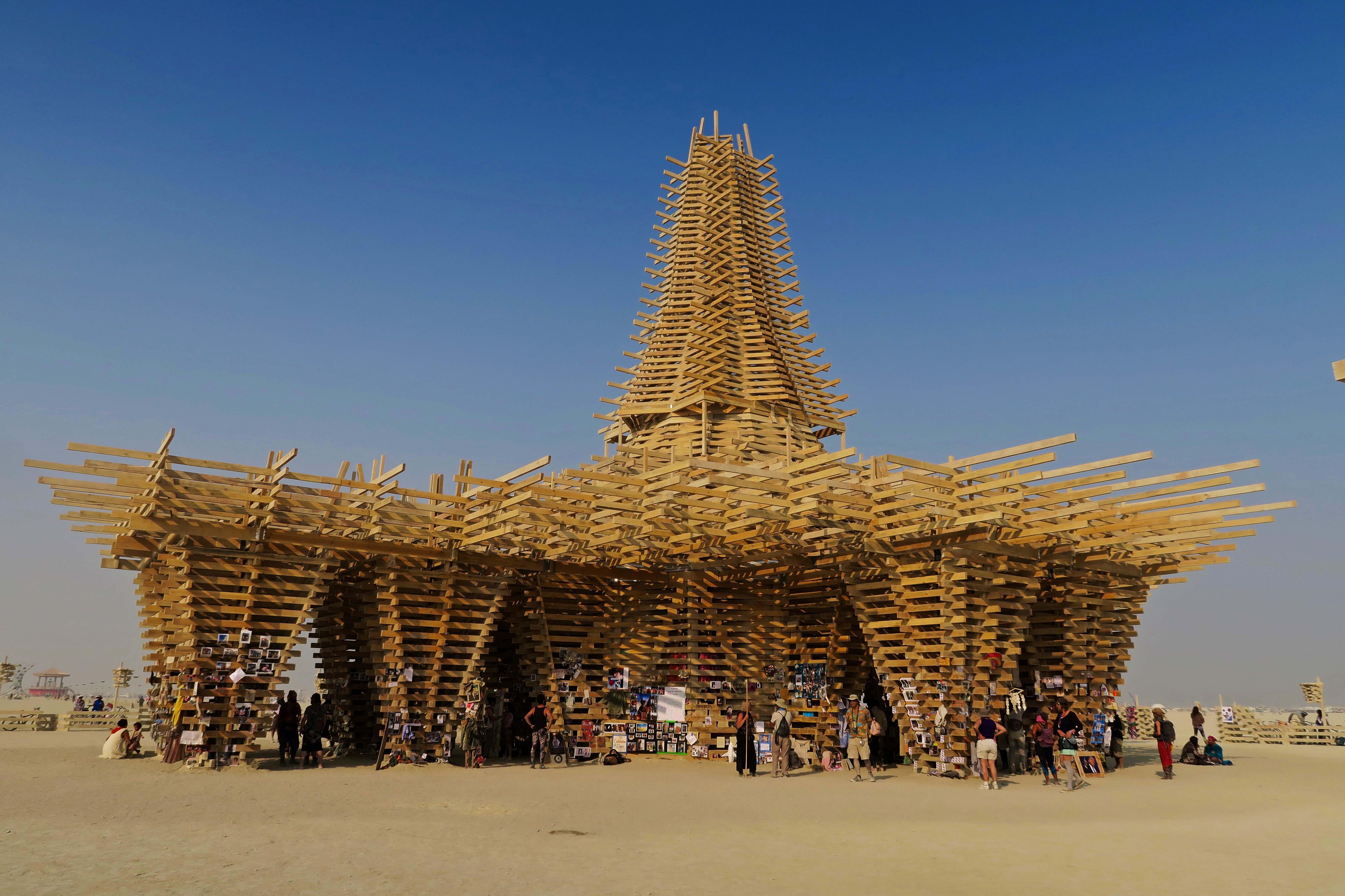Temple view at Burning Man 2017