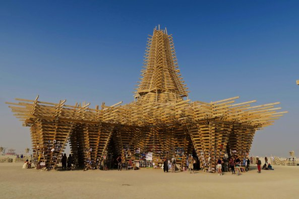 Temple view at Burning Man 2017